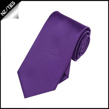 Boys Dark Purple Plain Necktie