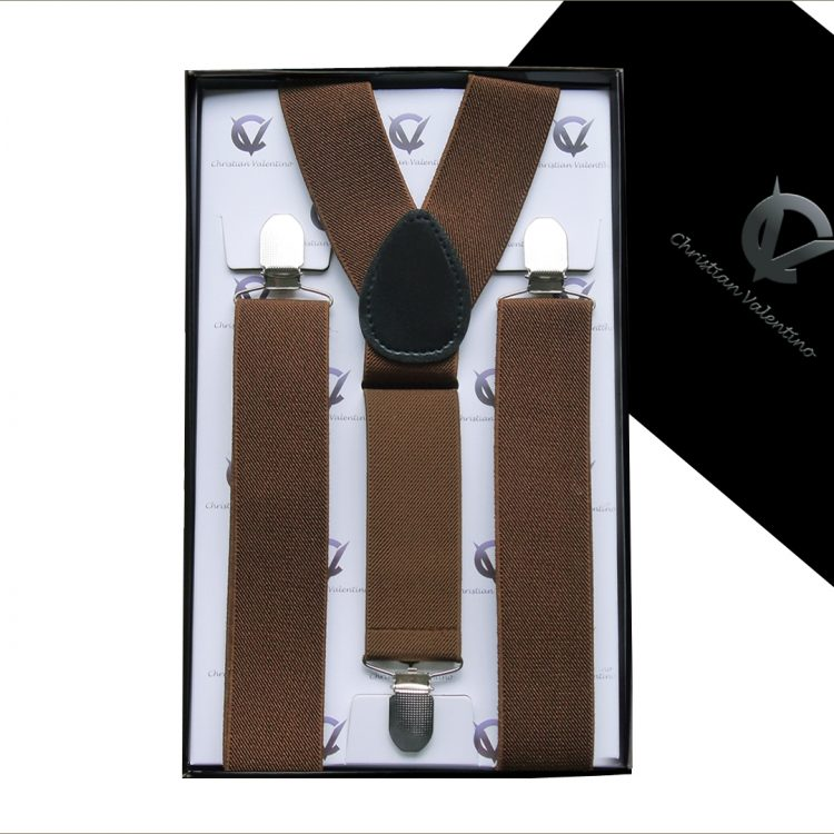 Mid Brown Y3.5cm Men's Extra Large Braces Suspenders