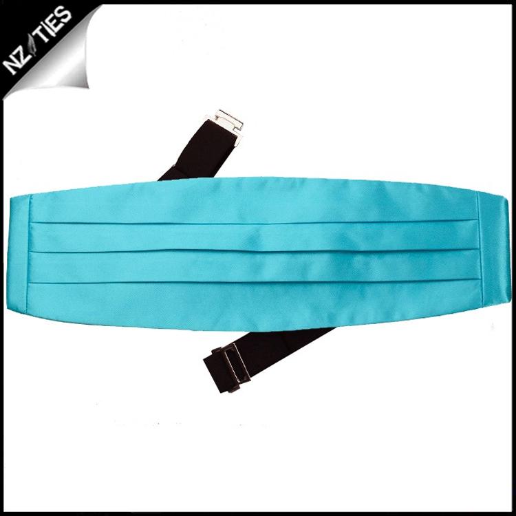 Mens Turquoise Aqua Blue Cummerbund