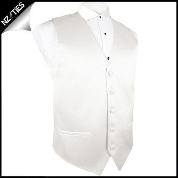 Mens Ivory Champagne Waistcoat Vest 44″ / 112cm L