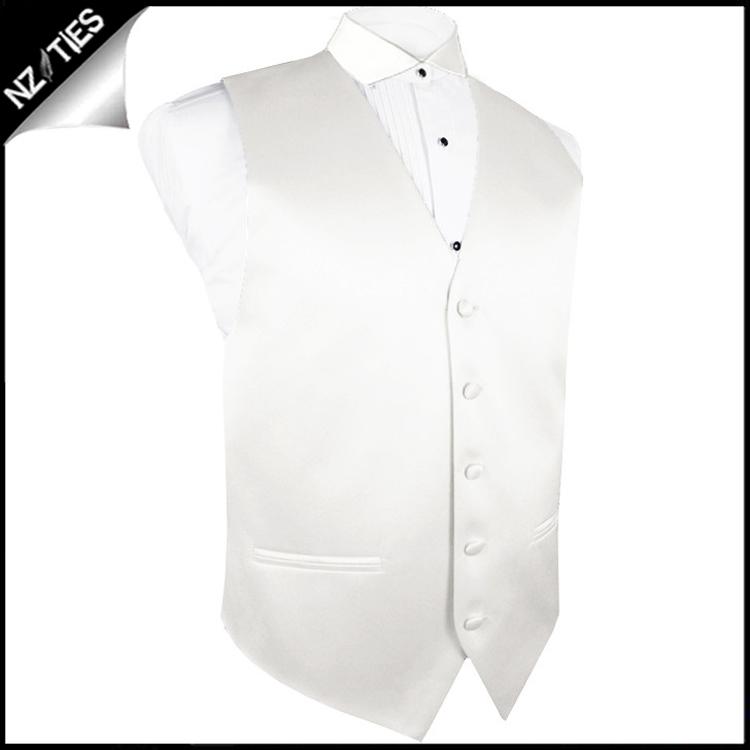 "Mens Ivory Champagne Waistcoat Vest 44"" / 112cm L"