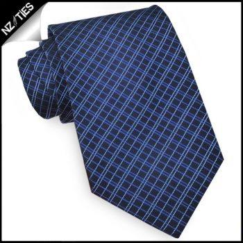 Dark Blue Crosshatch Mens Tie