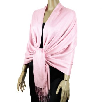 Baby Pink Ladies High Quality Pashmina Scarf