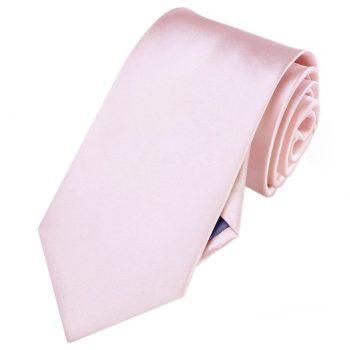 Mens Baby Pink Plain Necktie