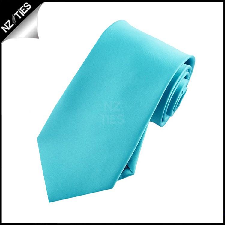 Boys Dark Turquoise Aqua Plain Necktie