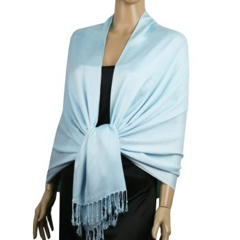 Light Blue Ladies High Quality Pashmina Scarf