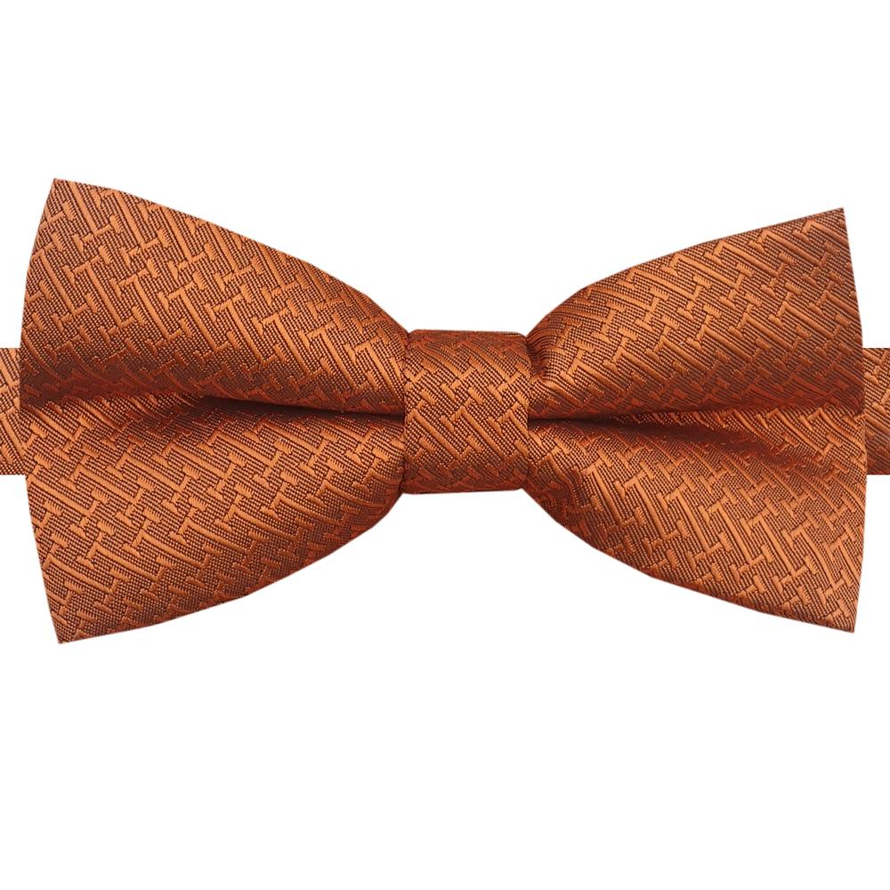Burnt Orange Bar Texture Bow Tie