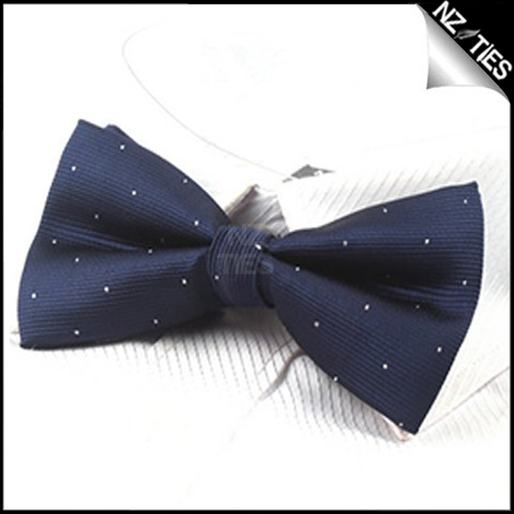 Midnight Blue with Small Dots Bow Tie