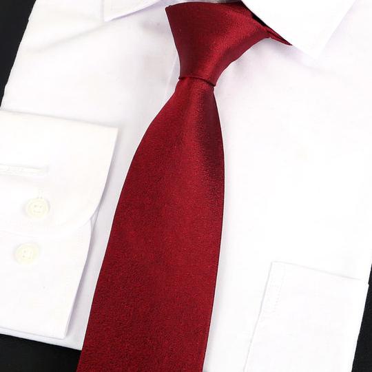 Burgundy Red Silk Tie 2