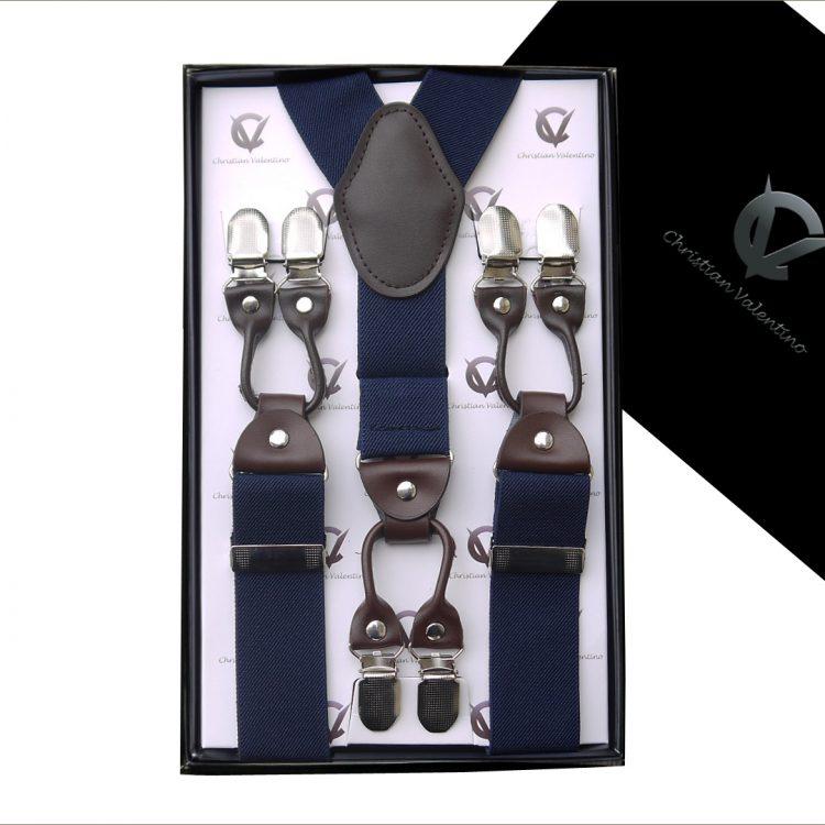 Midnight Blue Leather Attachment 3.5 Braces