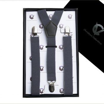 Dark Grey Y2.5cm Large Men's Braces Suspenders