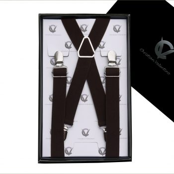 Dark Brown X2.5cm Men's Braces Suspenders
