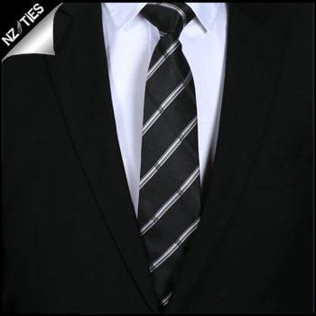 Black Plaid Mens Tie