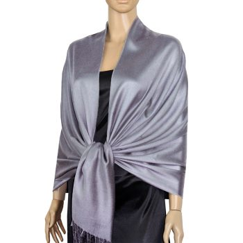 Mid Silver Grey Ladies High Quality Pashmina Scarf