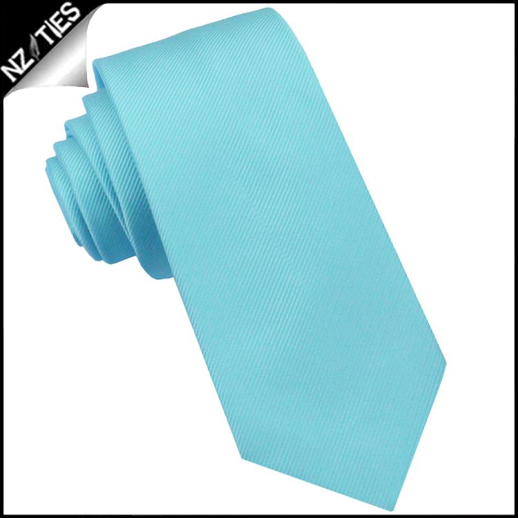 Turquoise Ribbed 6cm Mens Slim Tie