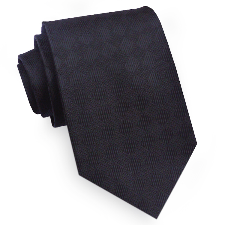 Black Textured Diamonds Mens Tie