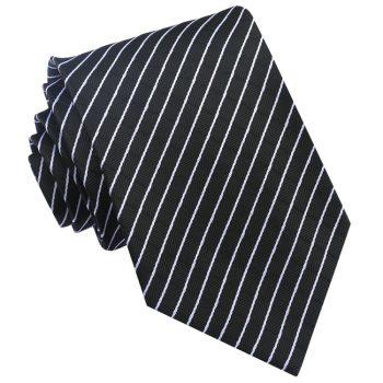 Black & White Crosshatch Mens Tie