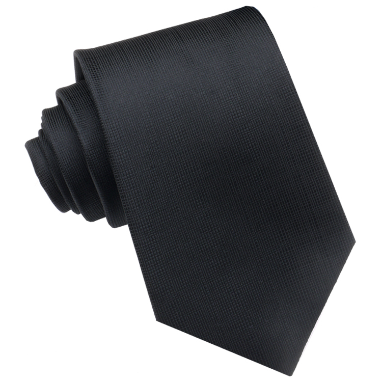 Black with Micro Check Texture Mens Tie
