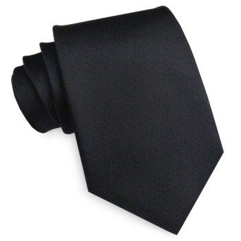 Black With Zig Zag Texture Mens Tie