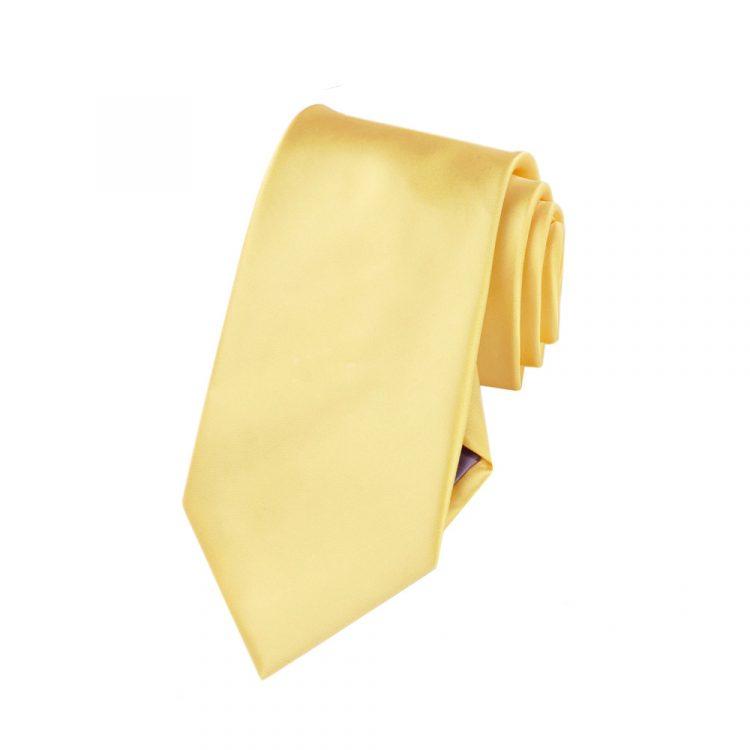 Boys Light Gold Yellow Tie