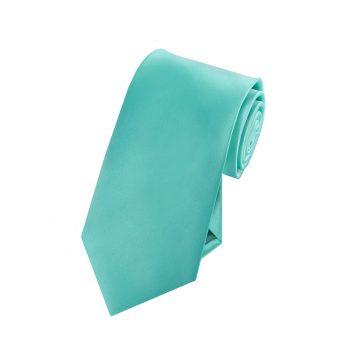 Boys Sea Mist Turquoise Green Tie