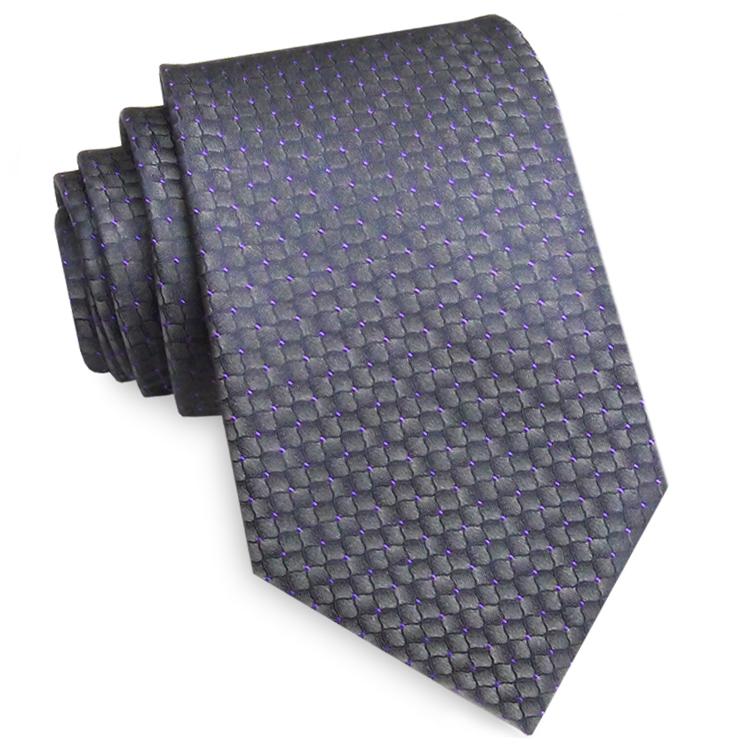 Dark Silver Reptile Skin with Purple Highlights Mens Tie
