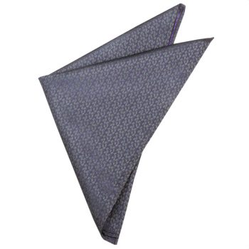Dark Silver Reptile Skin With Purple Highlights Pocket Square
