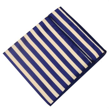 Light Gold Textured & Midnight Stripes Pocket Square