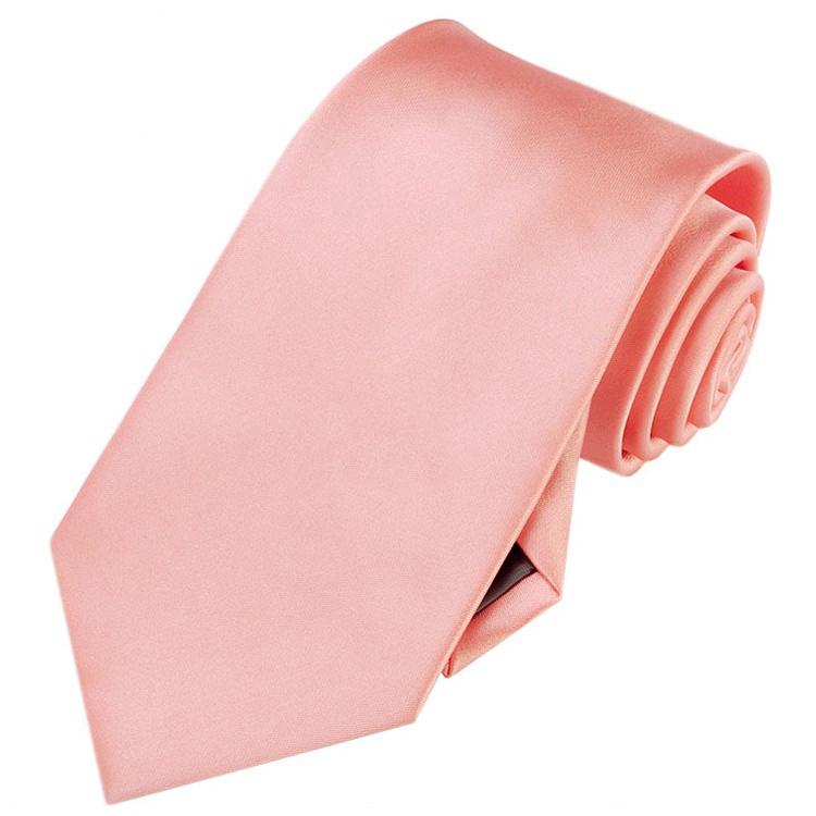 Mens Coral Salmon Flamingo Tie