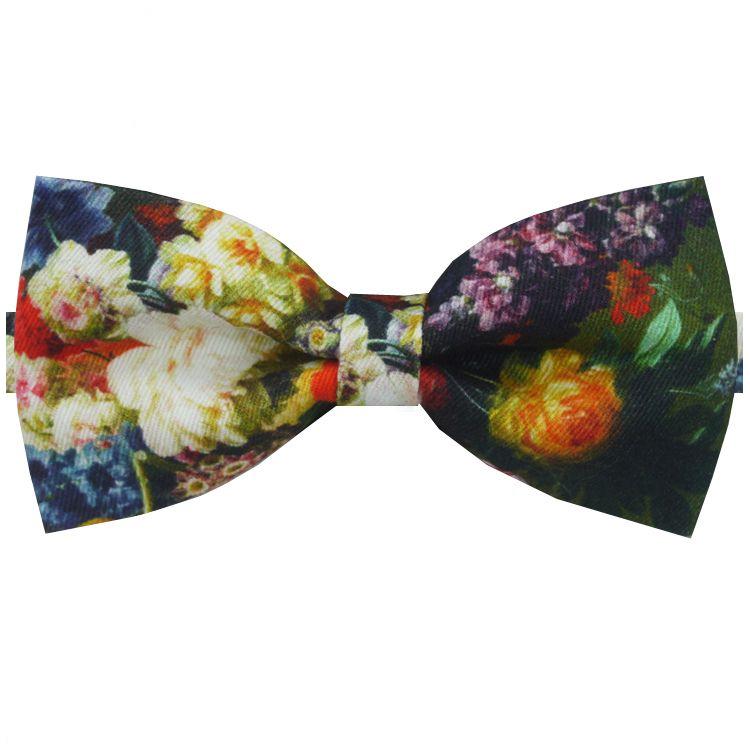 Multicoloured Floral Design Bow Tie