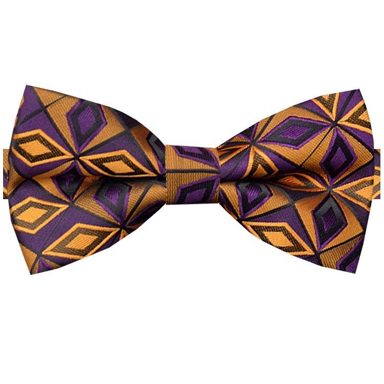 Purple & Orange Prism Design Bow Tie