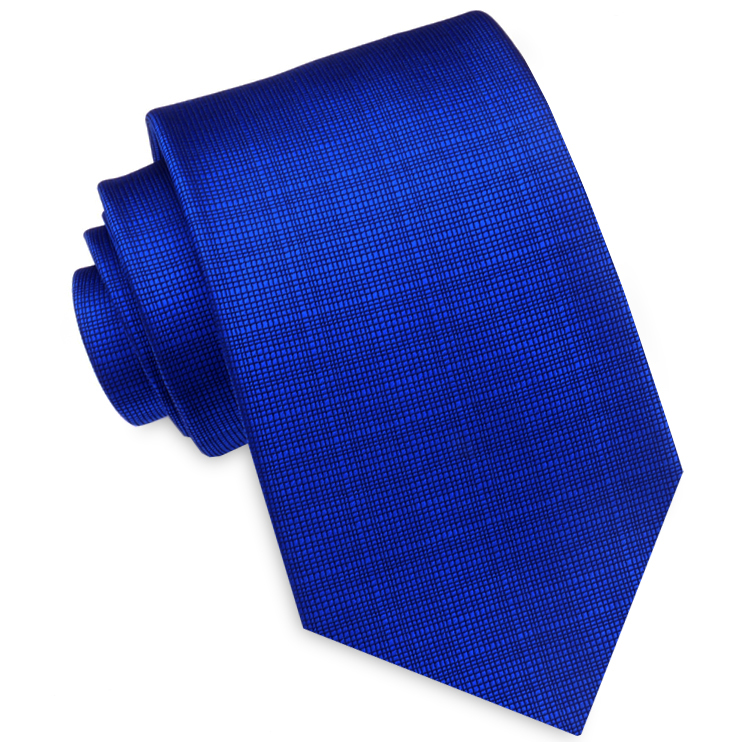 Royal Blue with Micro Check Texture Mens Tie