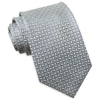 Silver With Pinwheel Texture Mens Tie