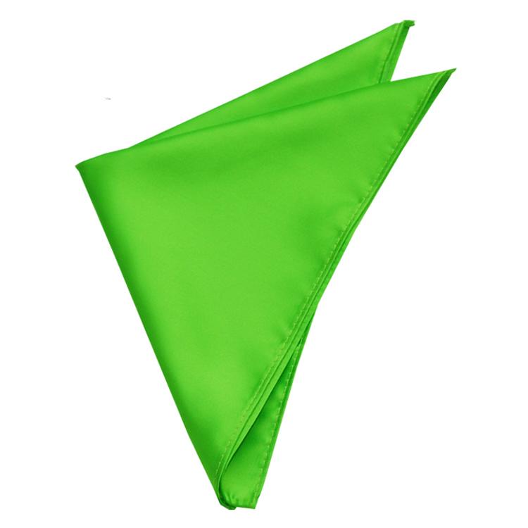 Mens Apple Kelly Green Pocket Square Handkerchief