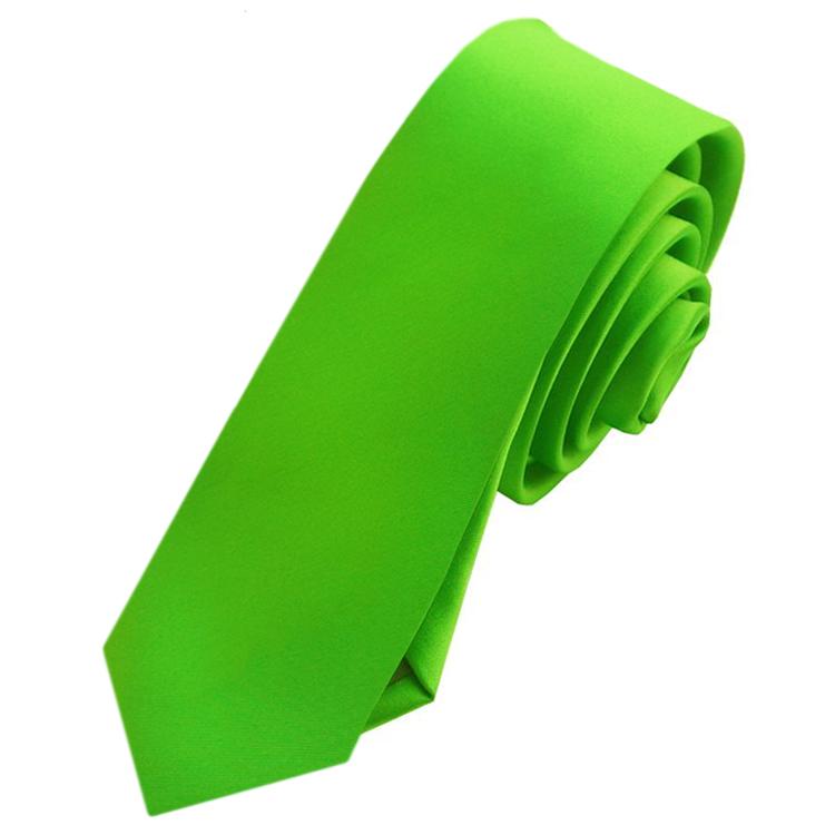 Mens Apple Kelly Green Skinny Tie