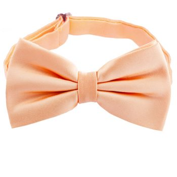 Peach Apricot Plain Bow Tie