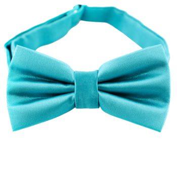 Dark Turquoise Aqua Bow Tie