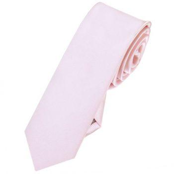 Mens Baby Pink Skinny Tie
