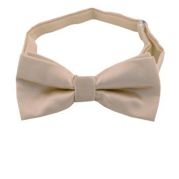 Beige Tan Boys Bow Tie