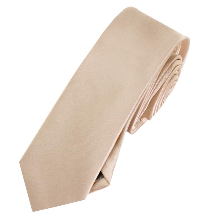 Mens Beige Tan Mocha Skinny Tie