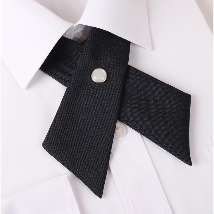 Black Cross Style Bow Tie