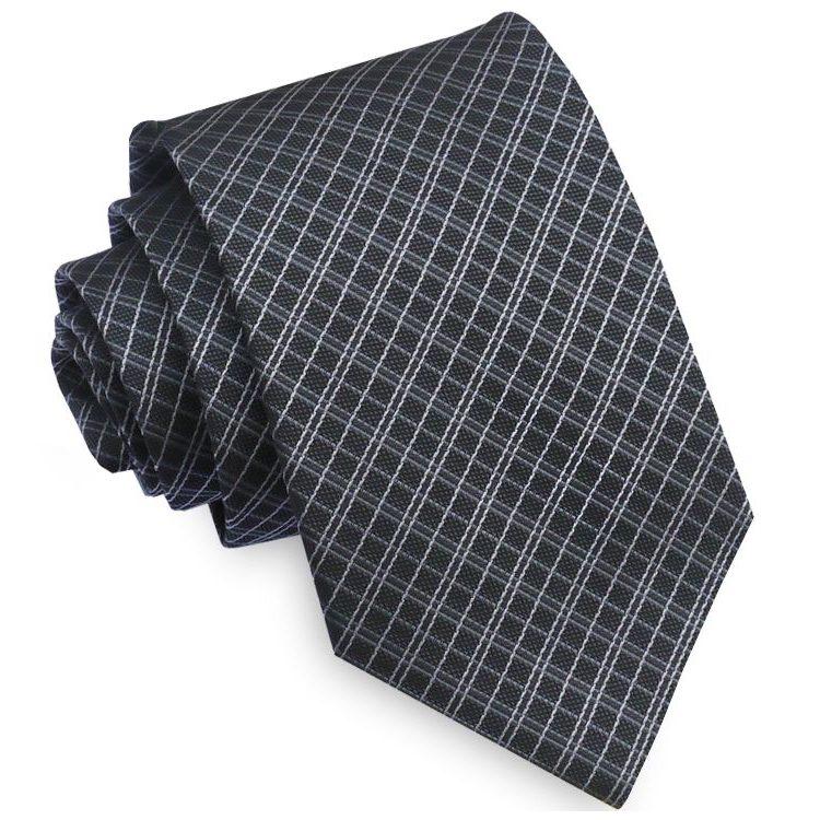 Black & Grey Crosshatch Mens Tie