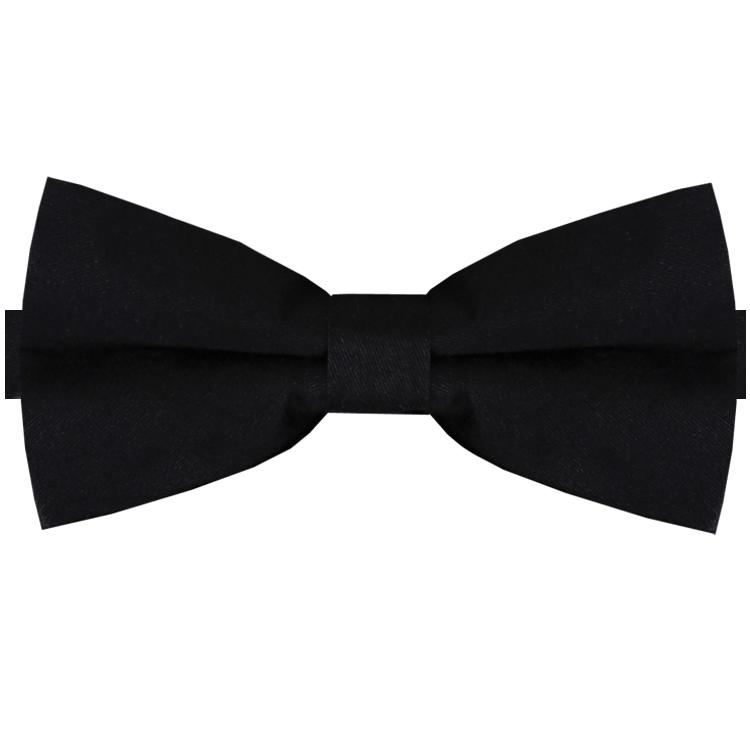 Black Cotton Men's Bow Tie