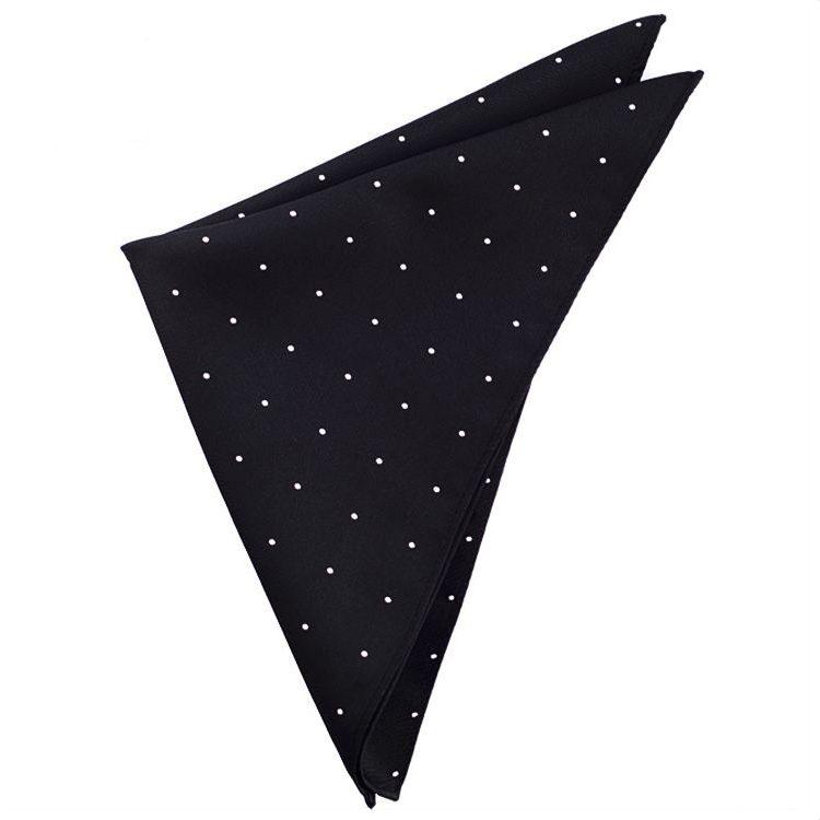 Black Pin Dot Pocket Square Handkerchief