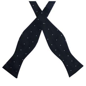 Black Pin Dot Self Tie Bow Tie