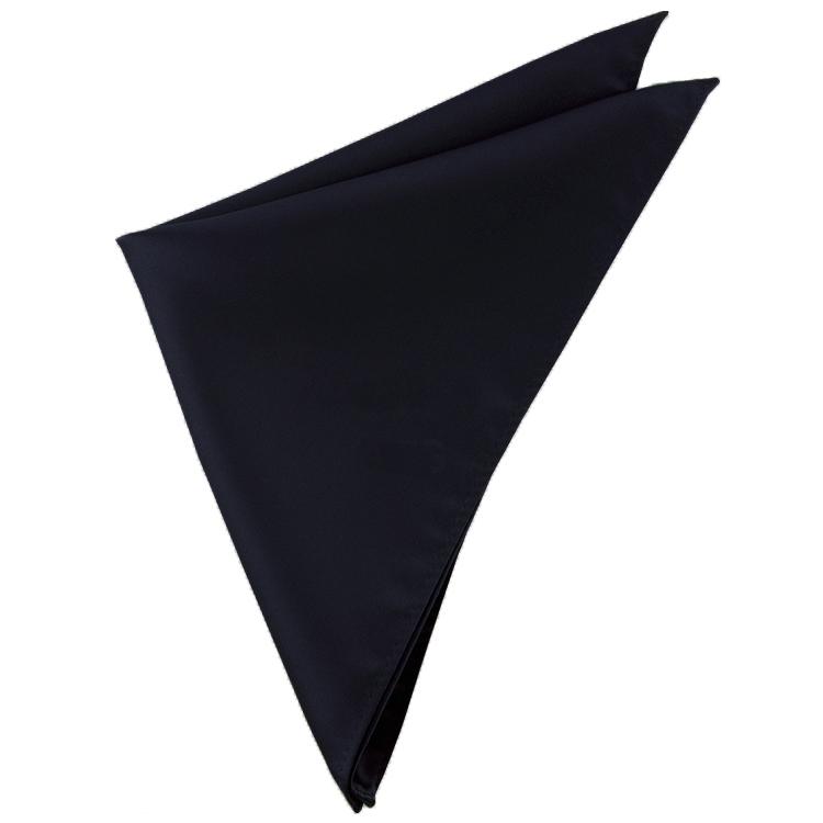 Mens Black Pocket Square