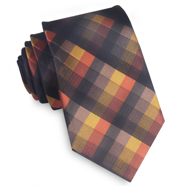Black, Red & Yellow Diamonds Tie