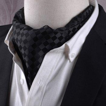Black On Black Diamonds Ascot Cravat
