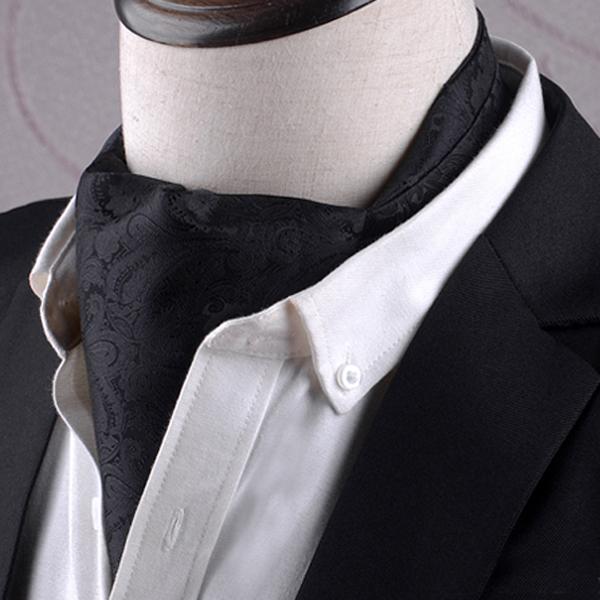 Black Paisley Ascot Cravat