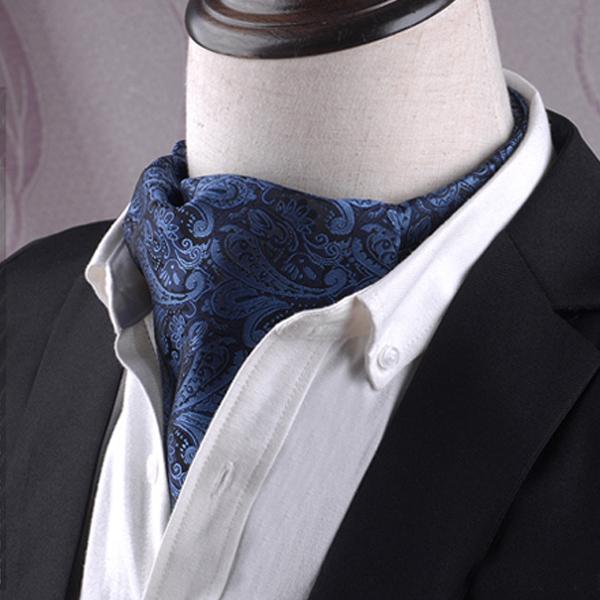 Black & Blue Paisley Ascot Cravat